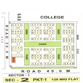 Sector 2 Pocket 1 Map Dwarka