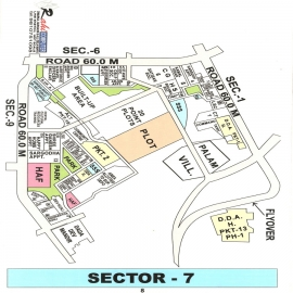 dwarka sector-7 map
